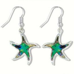 EARRINGS - ABALONE STAR FISH