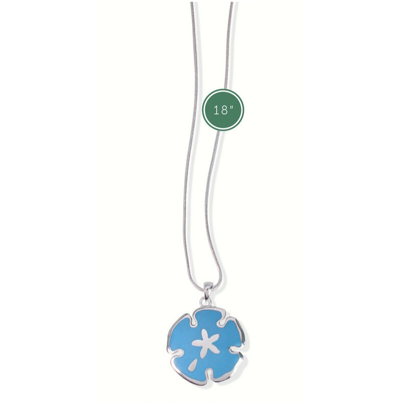 NECKLACE - LIGHT BLUE SAND DOLLAR