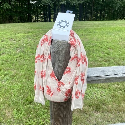 Lobster All Over Scarf
