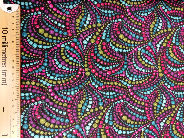 Benartex beaded swirls - multi