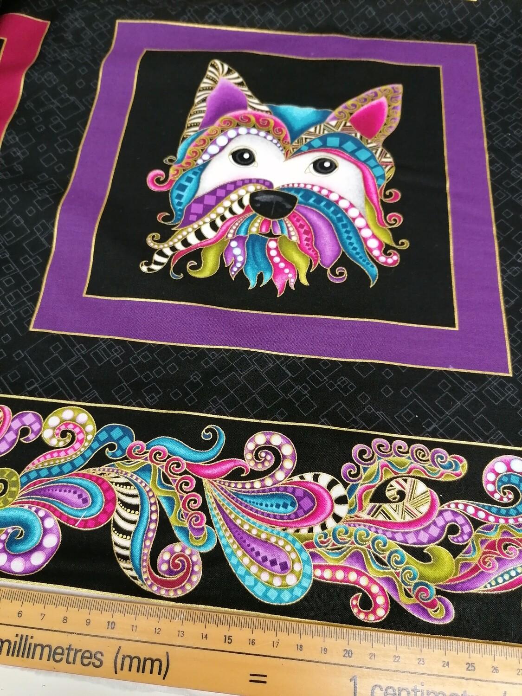 Benartex - dog on it - panel