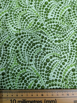 Benartex Beaded Swirls - Green