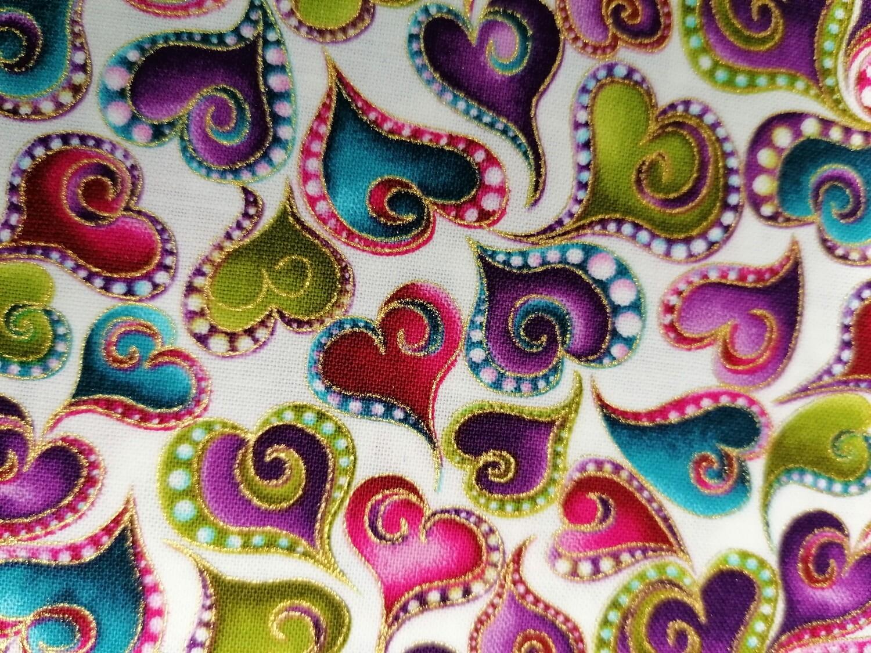 Benartex - swirling hearts