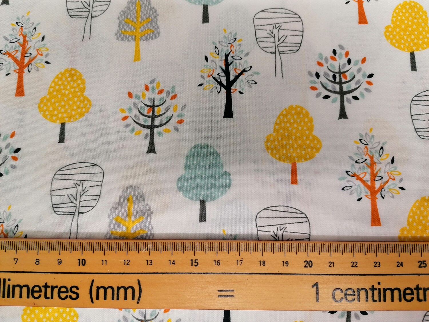 Woodlands Friends Col 104 trees fabric