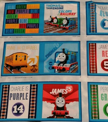 Quilting Treasures - Thomas the Tank Engine Book Panel