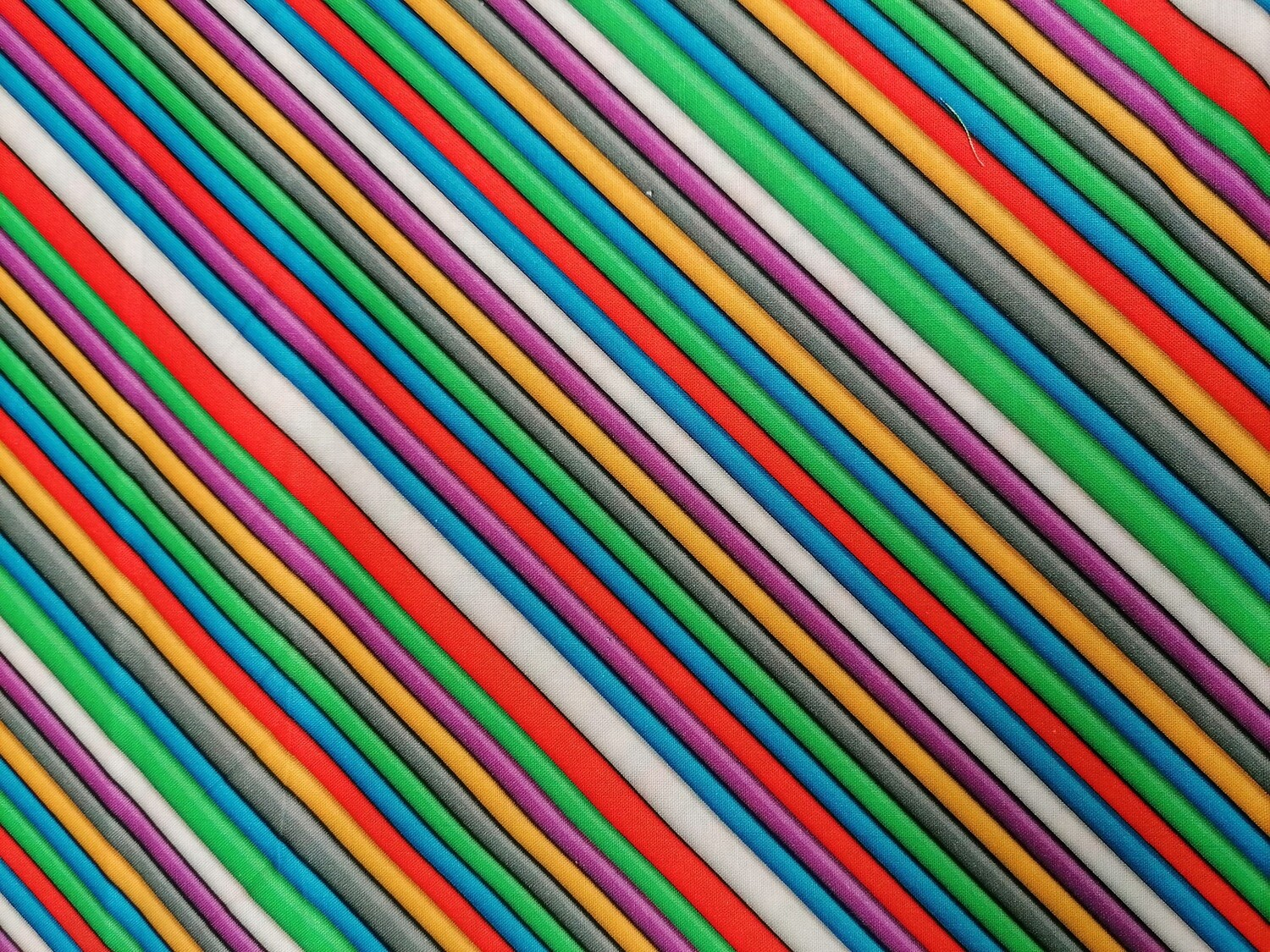 Benartex - Matthew's Mini Monsters - Colourful Diagonal Stripes
