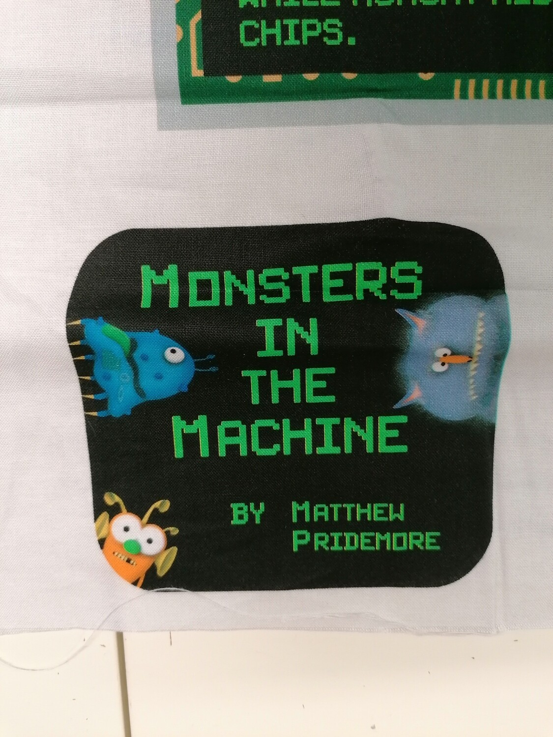 Benartex - Matthew's Mini Monsters - The Monster Machine Book Panel
