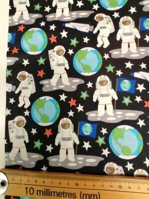 Camelot Cottons - Outer Space - Glow in the Dark