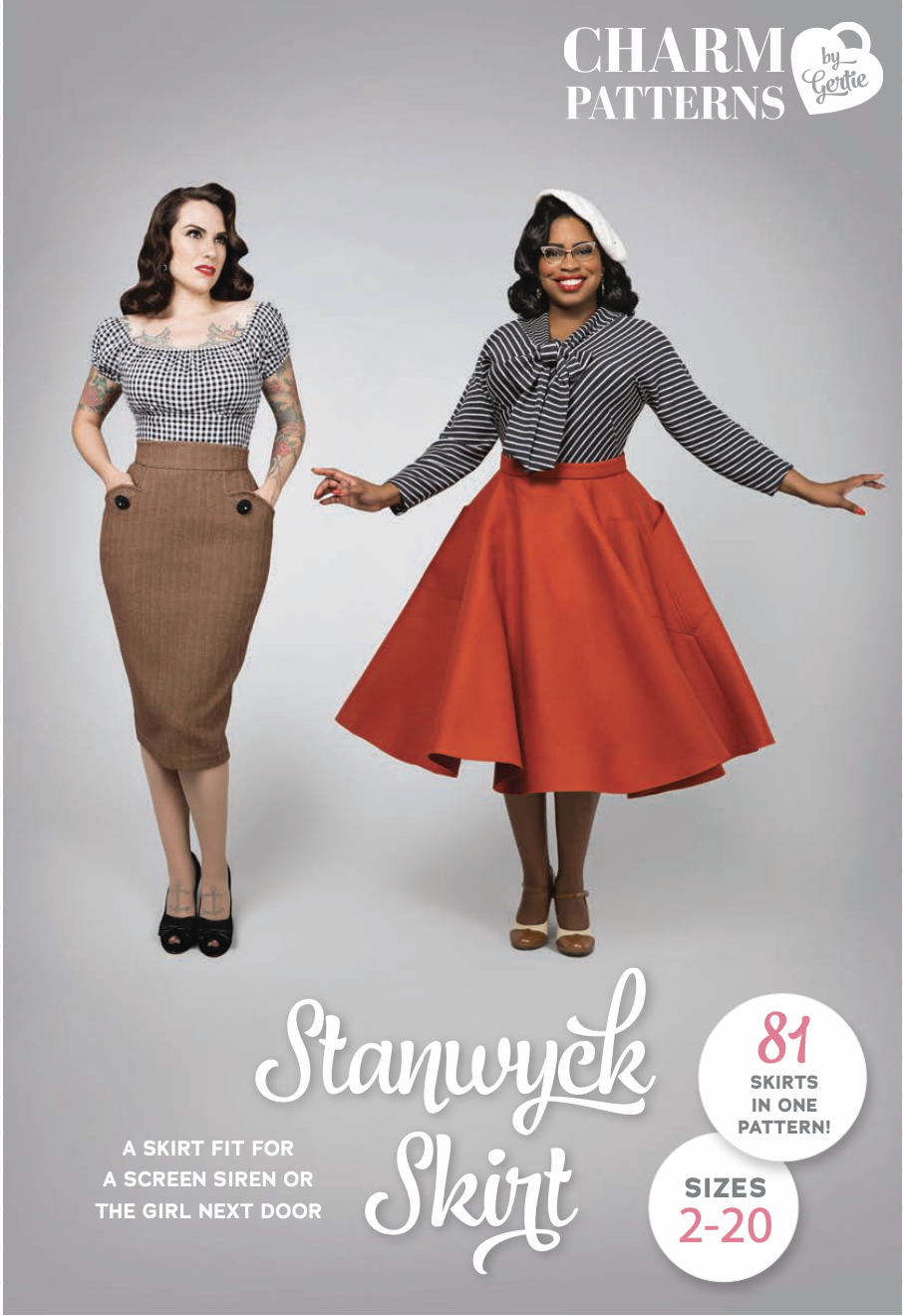 Charm Pattern - The Stanwyck Skirt