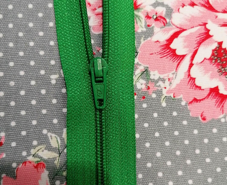 """30cm (12"""")  dress zip - Emerald"""