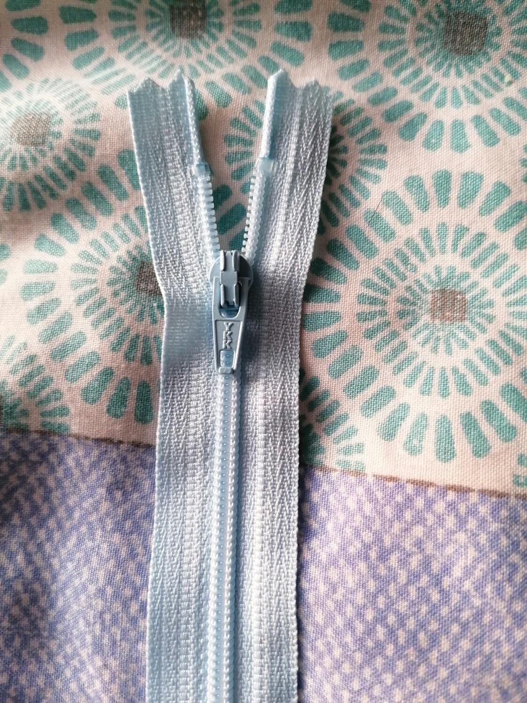 """30cm (12"""")  dress zip - Pale Blue"""