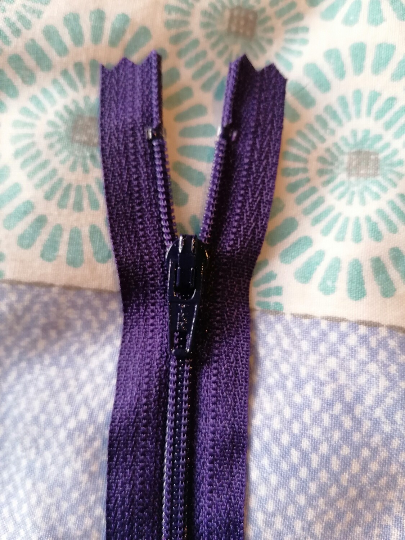 "30cm (12"")  dress zip - Purple"