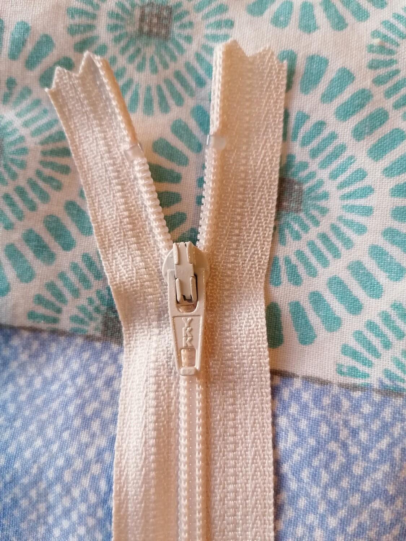"30cm (12"")  dress zip - cream"