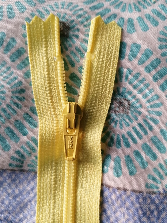 """13cm (5"""") nylon skirt & trouser zip Lemon"""