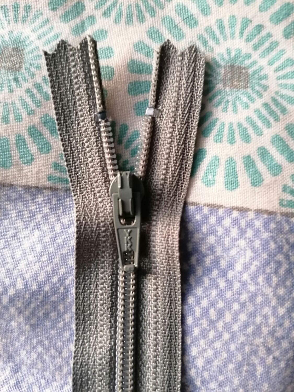 """18cm (7"""") nylon skirt & trouser zip Light Grey"""