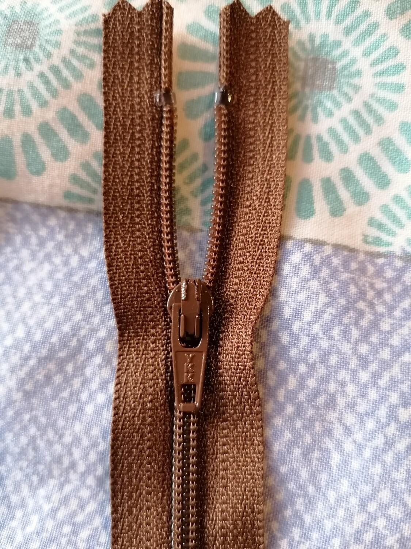 """36cm (14"""") Dress Zip - Mid Brown"""