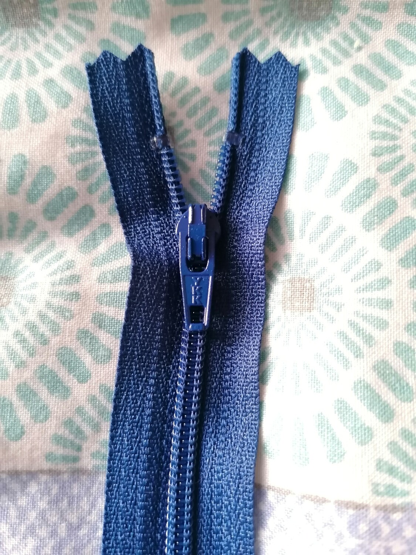 """23cm (9"""") skirt & trouser zips - Dark royal"""