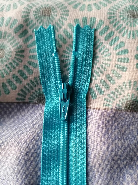 """23cm (9"""") skirt & trouser zips -  Kingfisher"""