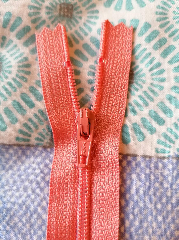 """23cm (9"""") skirt & trouser zips -  Dark Peach"""