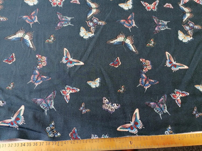 Cotton poplin - Blue butterfly