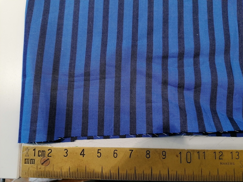Cotton - Blue on blue stripe shirting