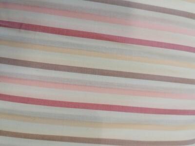 Cotton Shirting - pink stripes