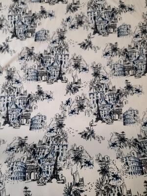 Cotton Elastane  - Blue Paris