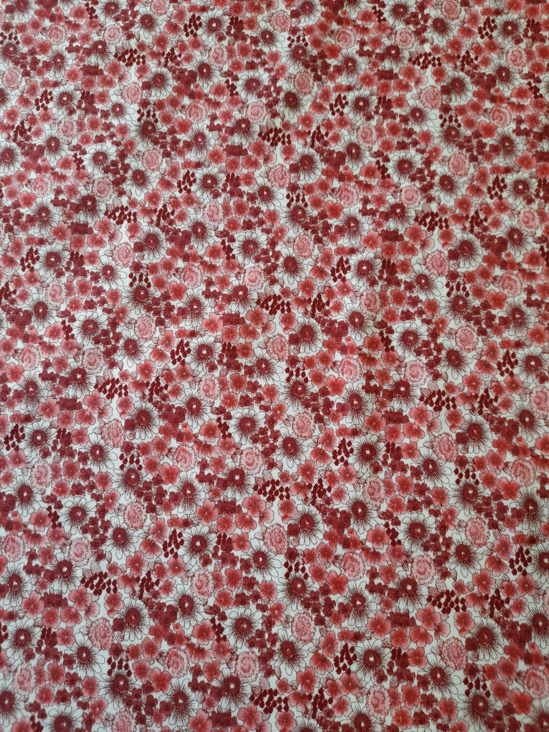 Cotton Twill - Pink Flowers