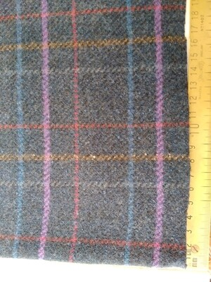Wool-Polyester check
