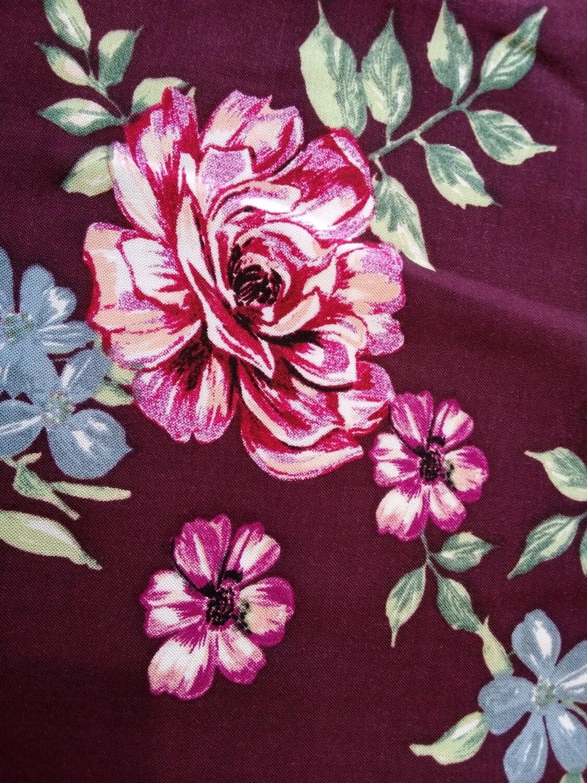 Viscose Plum flowers