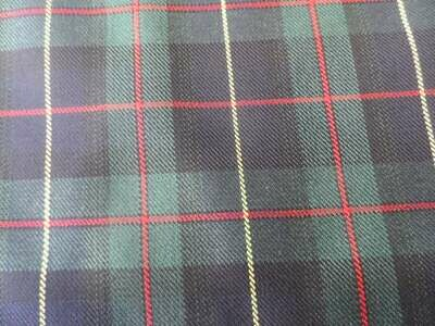Poly-Viscose Tartan - Navy Green