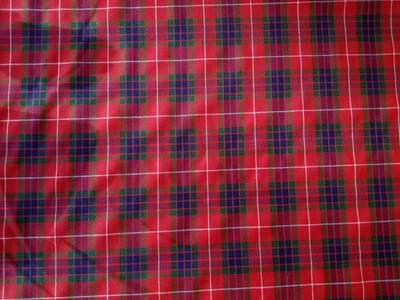 Poly-Viscose Twill Tartan - Red