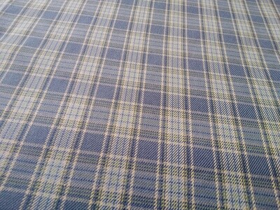 Poly-Viscose Twill Tartan - Light Blue