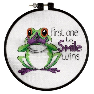 Learn-a-Craft: Counted Cross Stitch Kit: First One to Smile