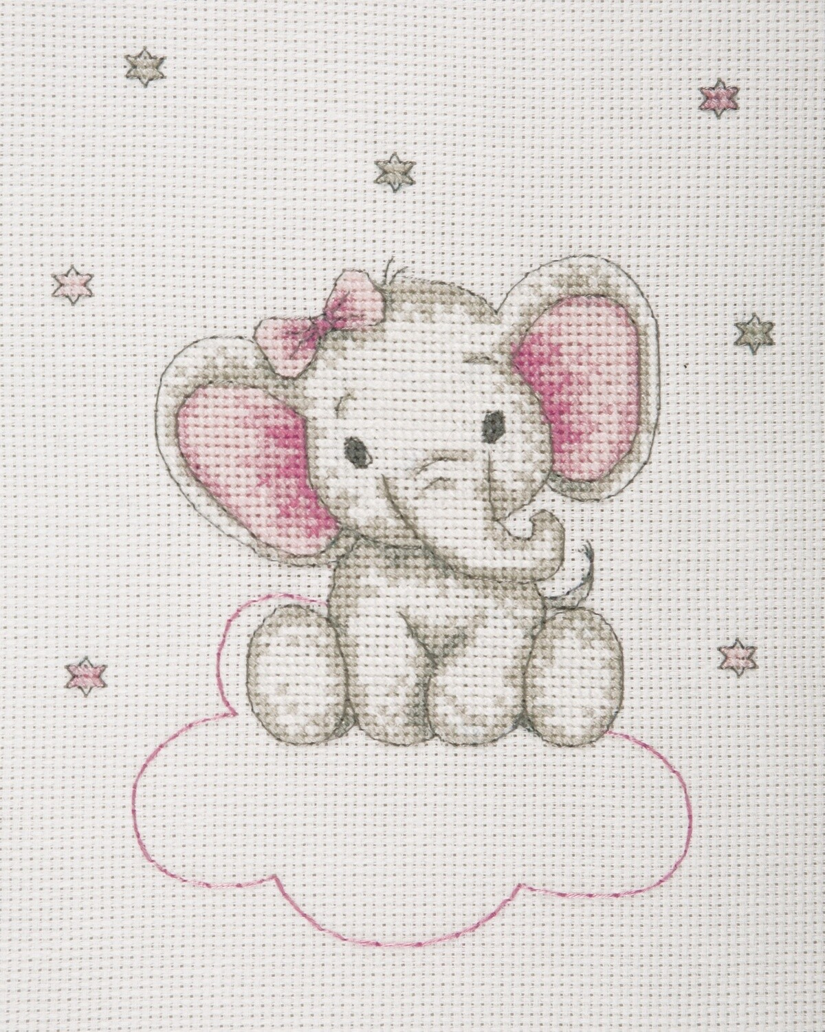 Counted Cross Stitch Kit: Girl Elephant