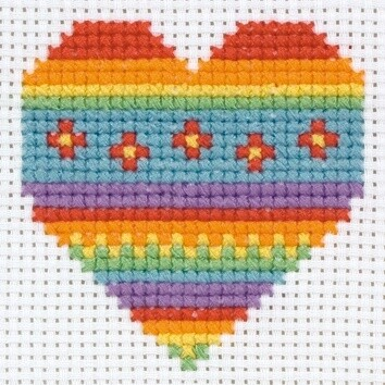 1st Kit cross stitch : Heart