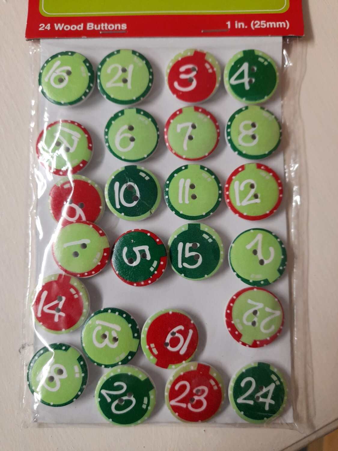 Holiday Advent Buttons