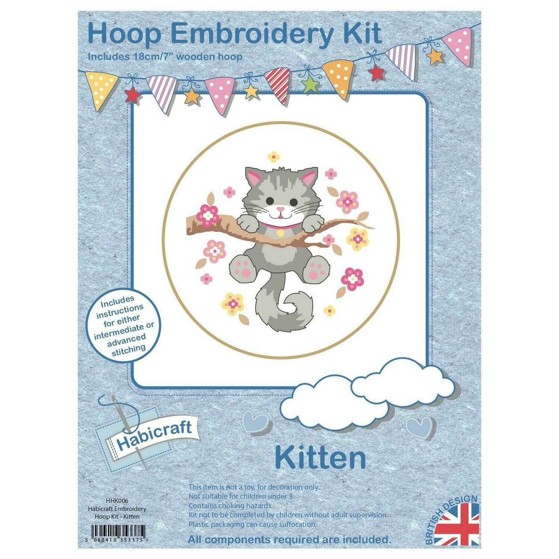 Hoop Cross Dtitch kit - Kitten