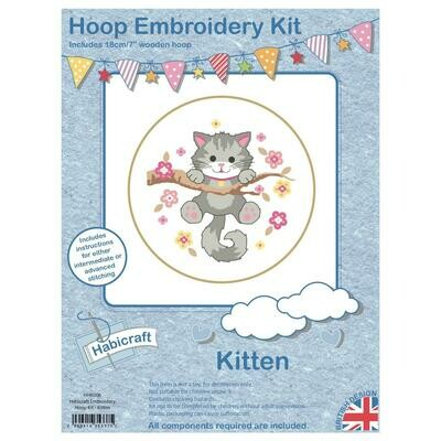 Hoop Cross Stitch kit - Kitten