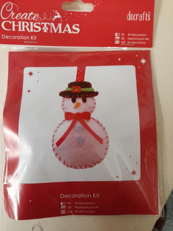 Felt kit - Snowman