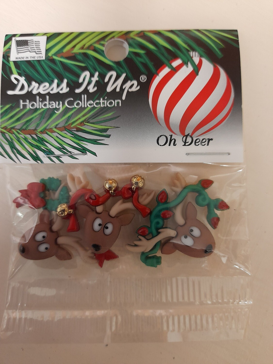 Oh Deer Christmas Buttons