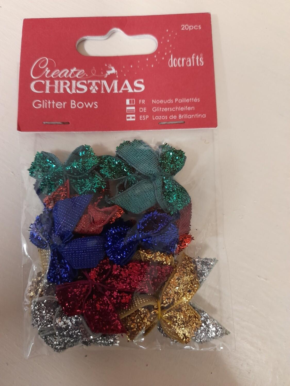 DoCraft Create Christmas - Glitter Bows
