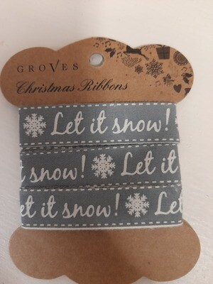 Christmas Ribbon - Let it snow