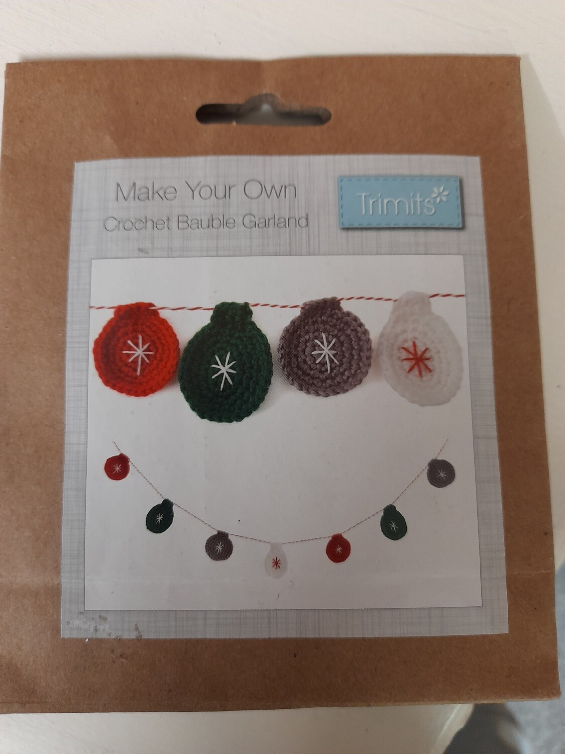 Crotchet Kit - Make your own bauble garland