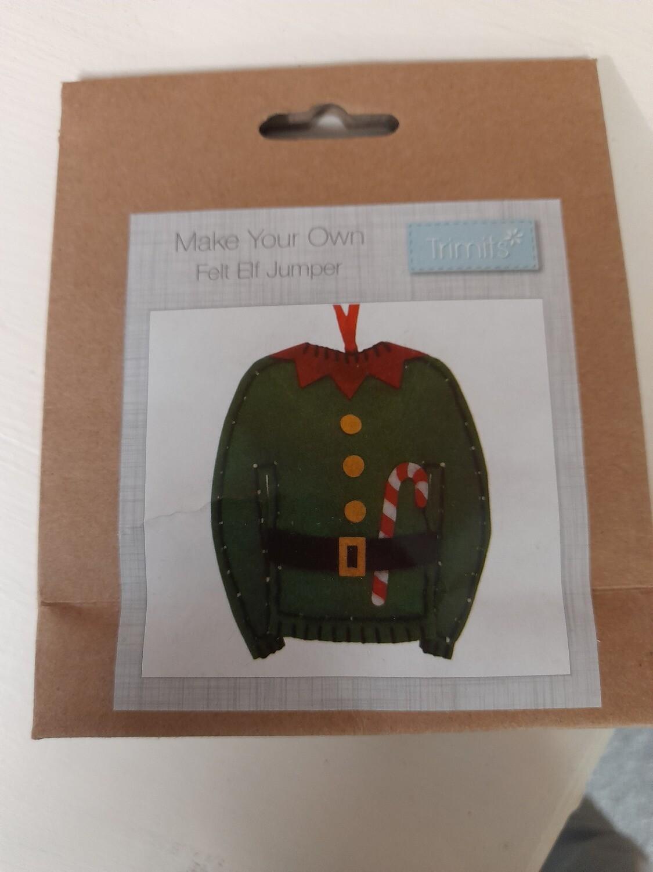Felt kit - Make your own Elf jumper