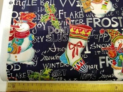 Paintbrush Studio -Snow family Christmas fat 1/4