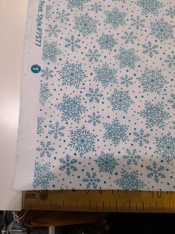 Benartex - Hearty the snowman - blue snowflakes
