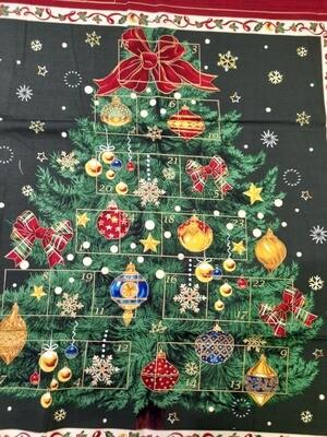 Christmas Tree Advent panel