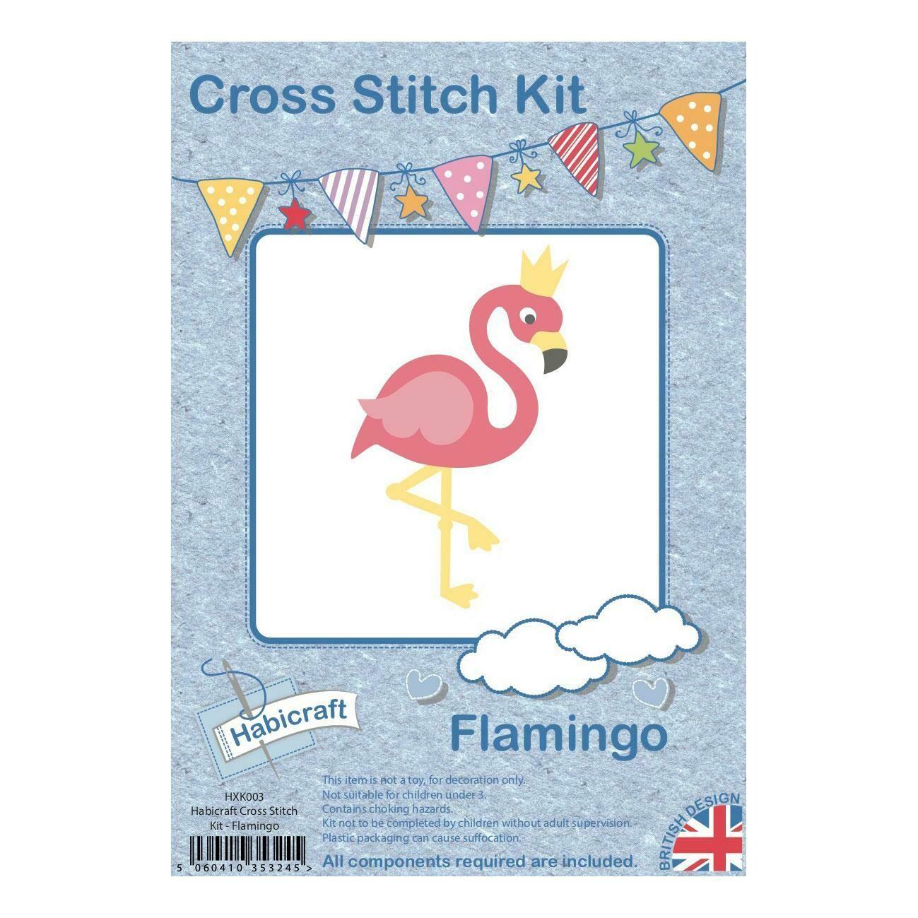 Hoop Cross Stitch kit - Flamingo