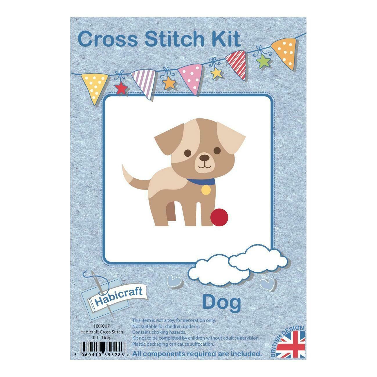 Hoop Cross Stitch kit - Dog
